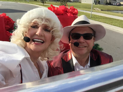 Holiday entertainment for hire, Christmas Carolers for hire, Carolers, mobile entertainment on wheels, Orlando, Winter Park, Maitland, Lake Mary, Winter Haven, Fort Myers, Naples