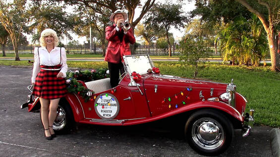 Holiday Entertainment for hire, Christmas Entertainment for Hire, Christmas Carolers for hire, Company Party Holiday Entertainment, Holiday Parades, Drive By Entertainment, Orlando, Sarasota, Saint Petersburg, Ybor City